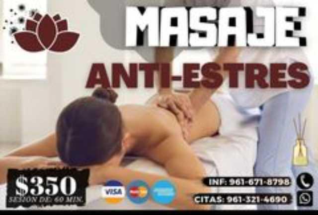 PROMOCION MASAJE ANTIESTRES CHIAPAS