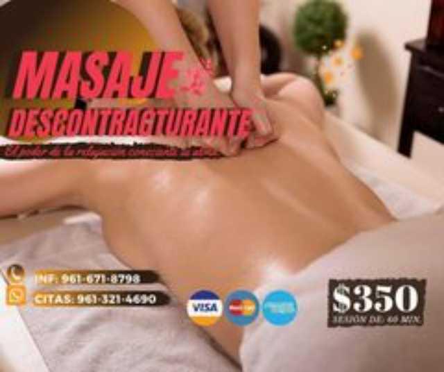 promocion masaje descontracturante en tuxtla