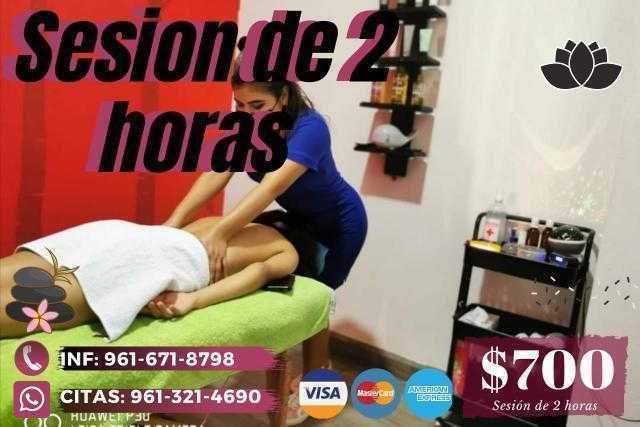 promocion masaje dos horas spa tux