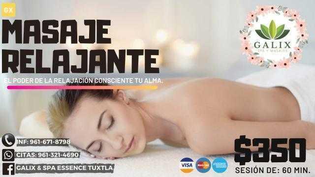 promocion masaje relajante spa tux