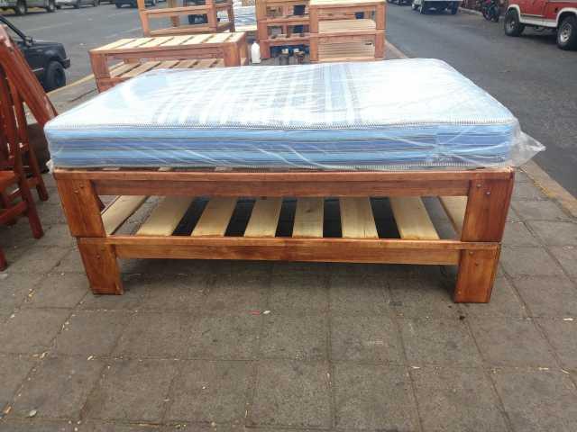 Bases para cama muebles de madera y colchones individual matrimonial quenzize kingzize Y LITERAS
