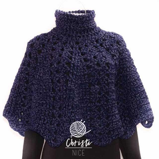 Chalina semiformal tejida a mano en crochet