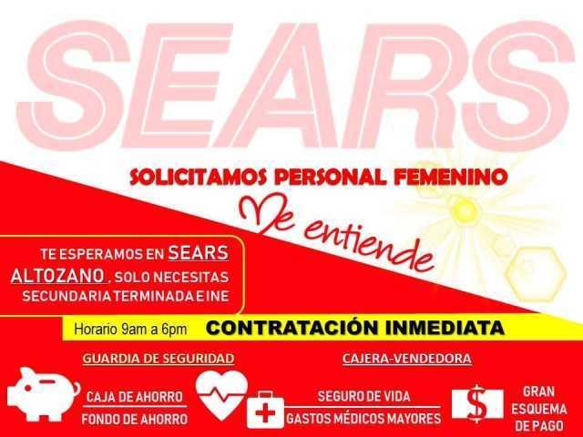 Sears solicita personal