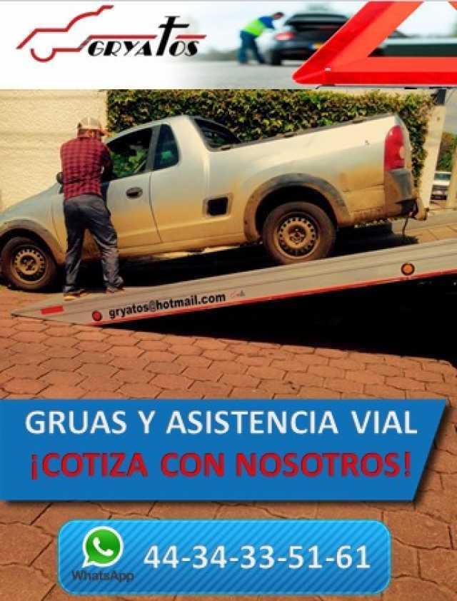 Servicio de gruas y asistencia vial con Gryatos