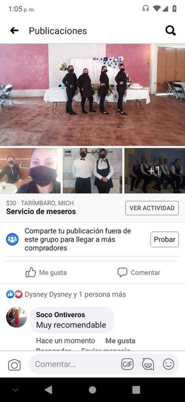 Servicio de meseros Álvarez