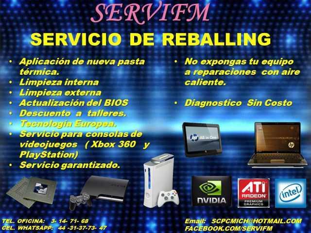 Servicio especializado de reparación en PC´S, lap tops y tablets a nivel componente