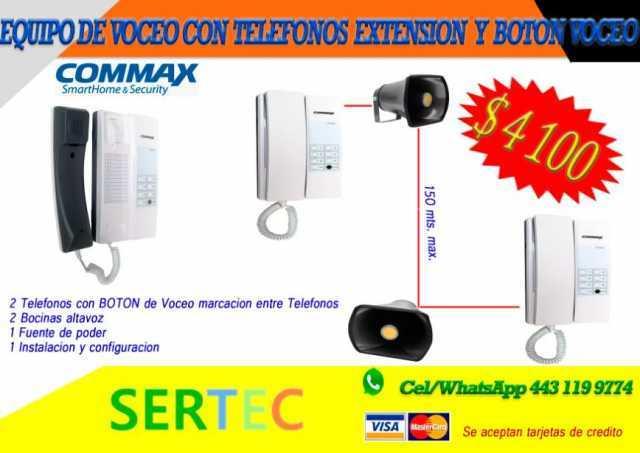 SISTEMA DE VOCEO 2 ZONAS Y 2 EXTENSIONES TELEFONICAS