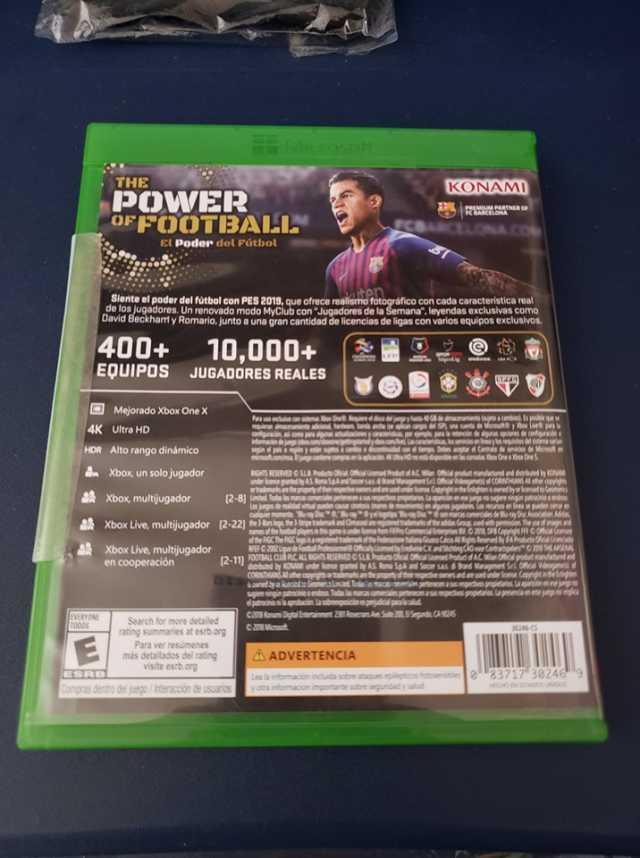 Vendo PES2019 para Xbox ONE