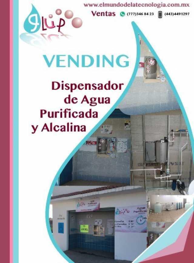 Venta de Purificadoras de Agua Automáticas con y sin Vending, Agua Alcalina y Venta de Insumos